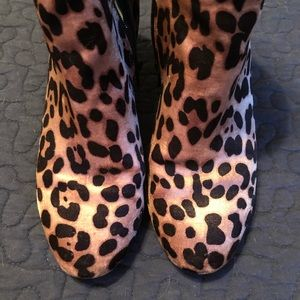 Leopard booties size 7.5
